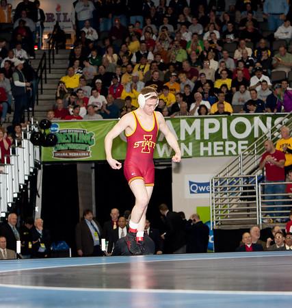 2010 NCAA 125 Champion, Matt McDonough (Iowa) def. Andrew Long (Iowa State)
